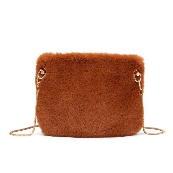Fashion Girls Shoulder Bag Soft Plush Crossbody Bag for Women 2018 Female Purses and Handbags Card Key Holder Cell Phone Pocket