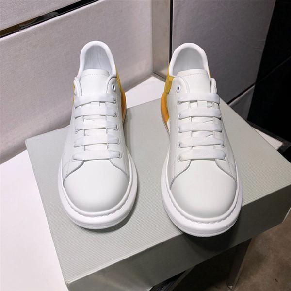 Multicolore designer de luxe unisexe casual chaussures top qualité en cuir véritable designer couple chaussures créateur de mode chaussures taille 35-44 B100535W