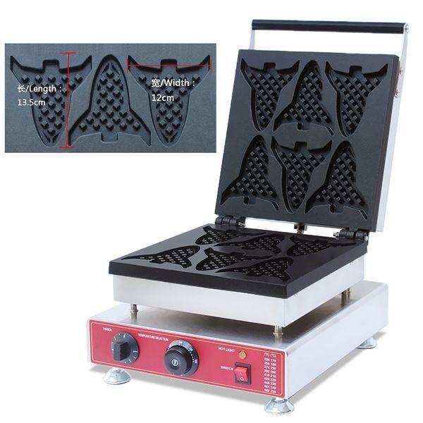 Electric Plane Shape Waffle Maker Machine 110v 220v Cartoon Airplane Egg Waffle Iron Baker Plate Making Pan Equipment