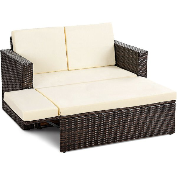 Wondrous 2019 Patio Rattan Loveseat Sofa Ottoman Daybed Garden Furniture Set W Cushions From Spr2198 324 63 Dhgate Com Evergreenethics Interior Chair Design Evergreenethicsorg
