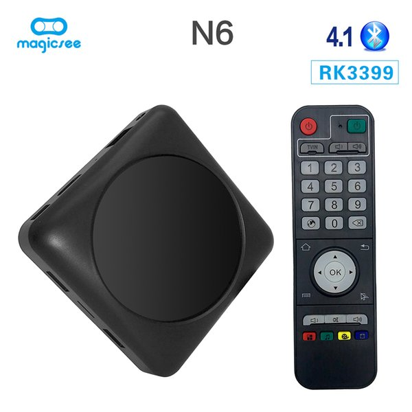 DDR4 4GB 32GB TV Box with Special Wifi RK3399 Hexa Core Android7.1 Smart Set Top Box Bluetooth 4K VP9 Media Player Google Play N6 Max