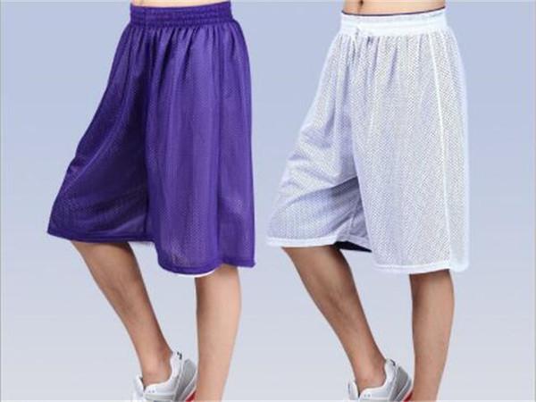 Летние спортивные шорты Пляжные штаны Мужские хип-хоп Баскетбольные шорты Брюки тренировочные Двухсторонние сетчатые дышащие пятиминутные шорты
