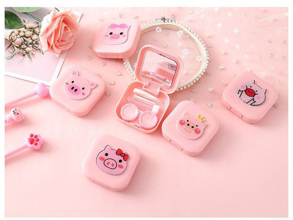 Colorful Case Contact Lenses Box Contact Lens Case,Glasses Color Double-Box, Contact Lens Case Eyewear Accessories