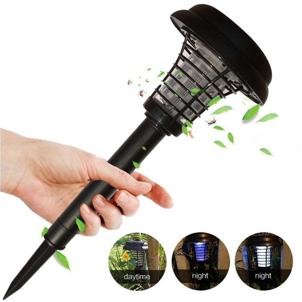 best selling Edison2011 New Solar Powered Mosquito Killer Insect Bug Zapper Pest Control Outdoor Garden Lawn LED UV Light Lamp Mosquito Killer Lamp