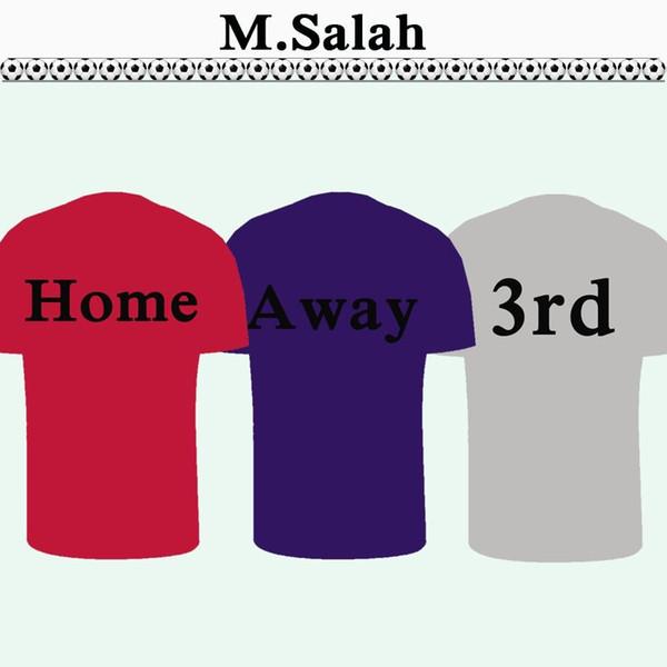 18 19 SALAH FIRMINO Mens Soccer Jerseys LALLANA MATIP Champions League Home Red Away 3rd M.SALAH Football Shirts MANE STURRIDGE Uniforms