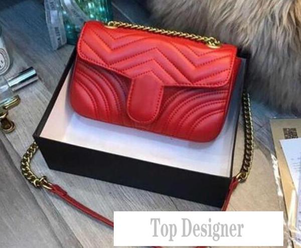 Fashion Love heart V Wave Pattern Satchel Designer Shoulder Bag Chain Handbag Luxury Crossbody Purse Lady Tote bags T1B3