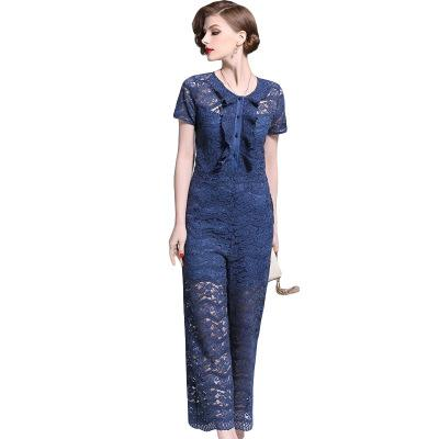 2019 Lady and Girl's Jumpsuits & Rompers,Fashion Summer Nice Lace Jumpsuits,Short Sleeve Thin and Sliming Style