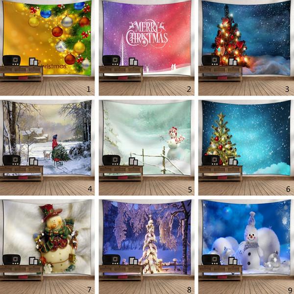 Mode de Noël Tapestry Festival de Bohême Décors muraux Hanging Tapis Partie à la maison Canapé Tapis Serviette de plage pique-nique Couvertures TTA1922