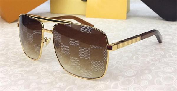 NEW Vintage-Designer-Sonnenbrillen für Männer Haltung 0259 Metall quadratischer Rahmen Blöcke uv400 Linse im Freien Schutzbrille mit Orange Box