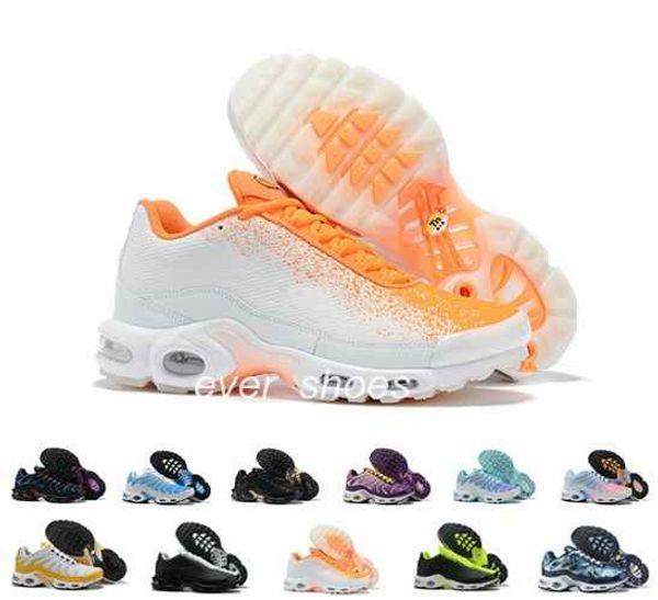 Yeni TN Artı Se Kadın Erkek koşu ayakkabı tns siyah Pembe turuncu tns spor ayakkabı Mesh Beyaz chaussures trainger tasarımcı sneakers 36-46