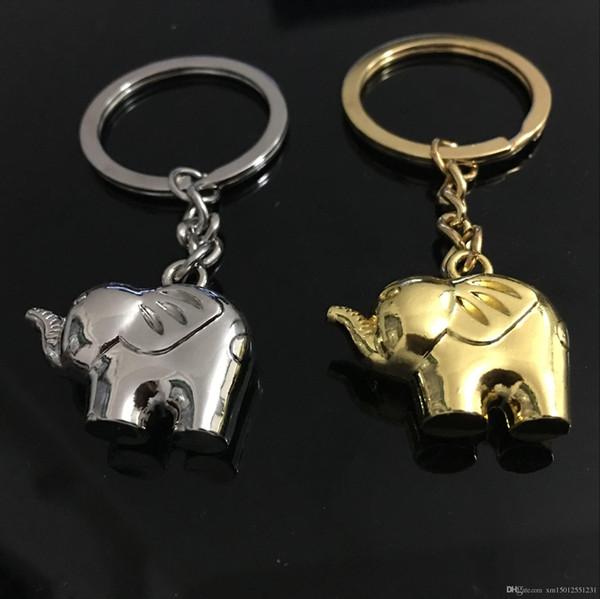 2019 moda personalizada de metal mascota simulación elefante llavero llavero para BMW / AUDI / FORD / JEEP colgante automático Chaveiro Llavero Key Holder