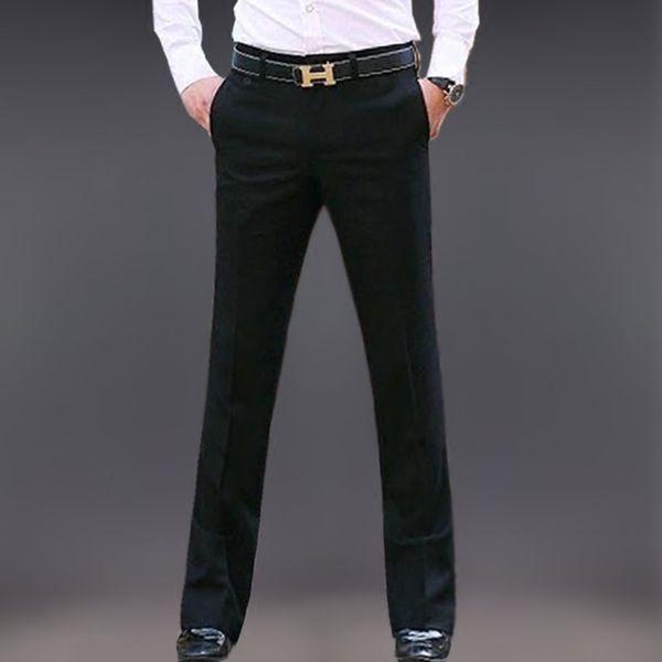 Compre Nuevo 2019 Pantalón De Traje Para Hombre Pantalón De Vestir Slim Fit Para Hombre Traje Formal De Negocios Pantalón Acampanado A 6089 Del