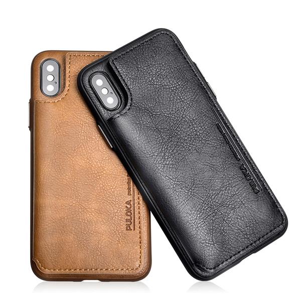 Für iphone x xr xs max brieftasche case mit kartenhalter pu leder ständer case doppel magnetverschluss stoßfest abdeckung für iphone 7 8 plus