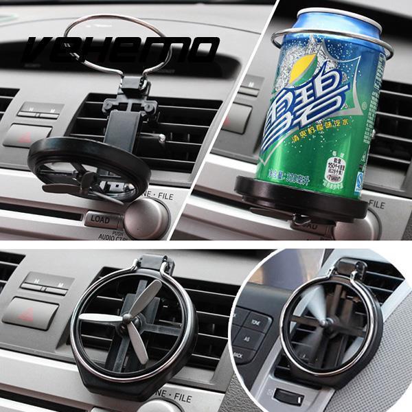 best selling Vehemo Car Truck Wind Air A C Outlet Cup Bracket Bottle Drink Holder Fan Design