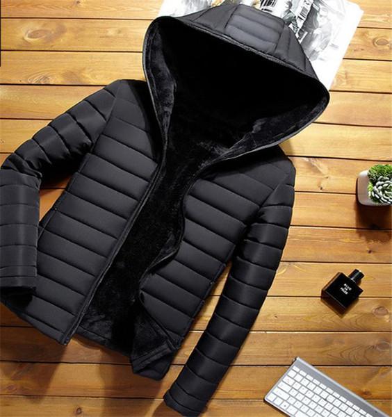 Novo Casaco de Algodão para Homens Outono e Inverno Versão Coreana Estilo Curto Grosso e De Veludo Moda Casual Cotton Cap Jaqueta Busines