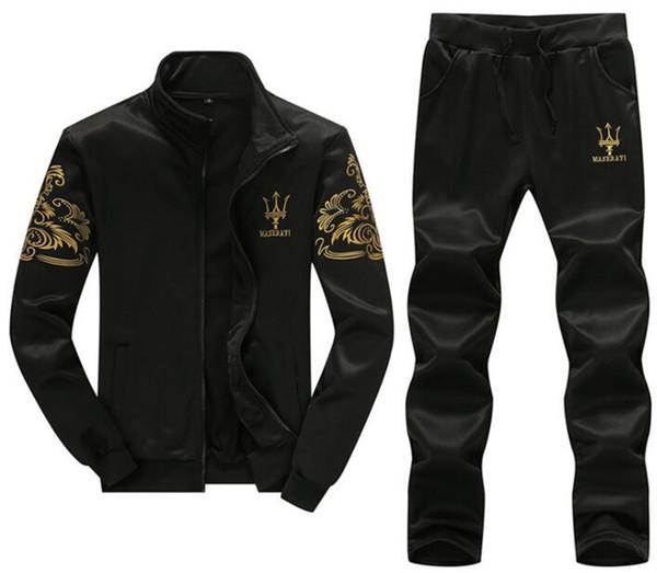 Marka Yeni Erkekler Setleri Moda Sonbahar Bahar Sporting Suit Kazak + Tavalar Erkek Giyim 2 Parça Setleri Ince Eşofman