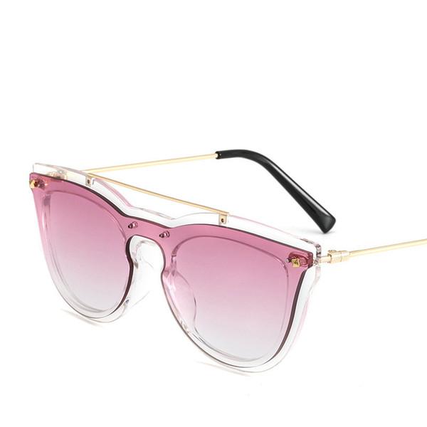 2018 Oversized Cat Sunglasses Women Brand Designer Woman Sun Glasses Fashion Summer Transparent Frame Round Eyeglasses UV400 NX