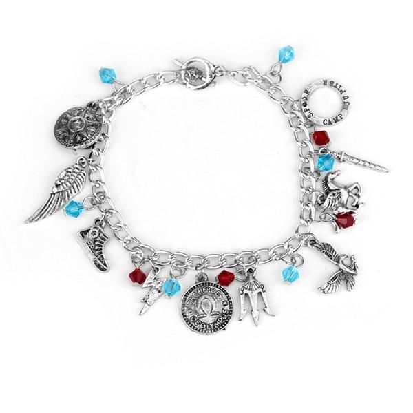 Percy Jackson Kristallperlen Pendent Charme Armband Einfache Vintage Film Schmuck Mode Handketten für Frau