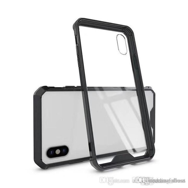 Armor Transparent Clear Air Hybrid Phone Case para iPhone 6 7 8 Plus X XS MAX Samsung Note 9 S8 S9 A8 2018 Plus TPU Bumper Cover OPP Bag Nuevo