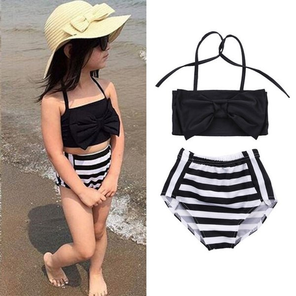 3-12Y infantil badeanzug bikini sommer badeanzug designer badeanzug schmetterling geknotete mädchen bikini anzug kinder bademode dhl jy44