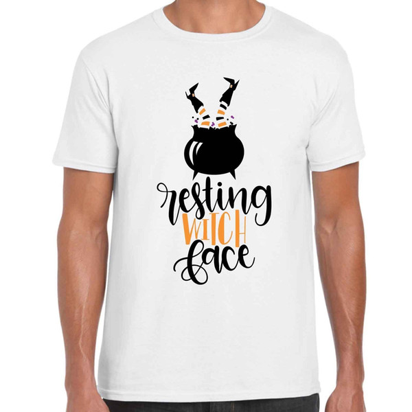 Resting Witch Face - Funny Unisex Halloween T Shirt white black grey red trousers jacket croatia leather tshirt