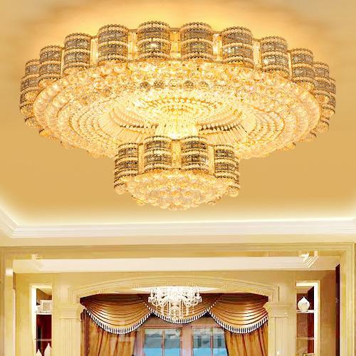 LED ceiling chandeliers European American luxury oval fancy high end K9 crystal chandelier hotel lobby villa led chandeliers lights