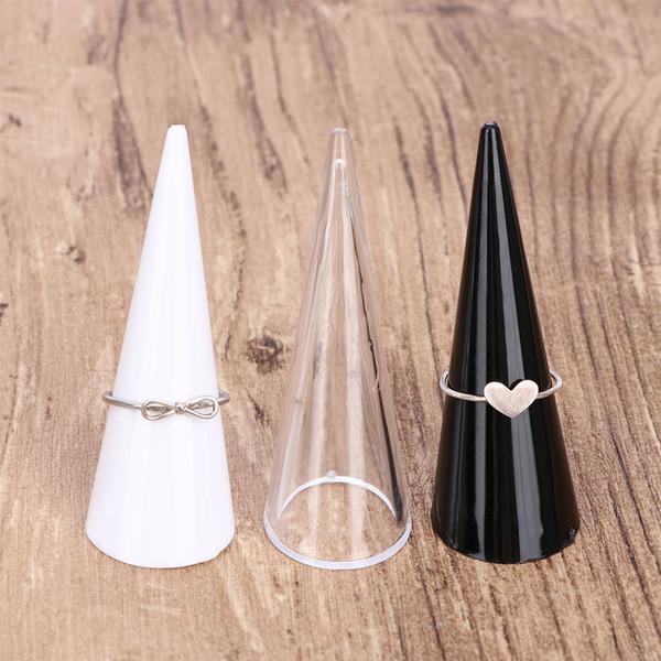 5 adet Parmak Yüzük Standı Mücevherat Ekran Tutucu Akrilik Depolama Yeni Ekran Vitrin Tutucu Depolama Sergi Standı