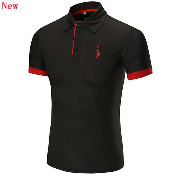 Ücretsiz Kargo Yeni Yüksek Kalite erkek Nakış Polo Gömlek Erkekler Için Tasarımcı Polos Pamuk Kısa Kollu gömlek Markaları WN11