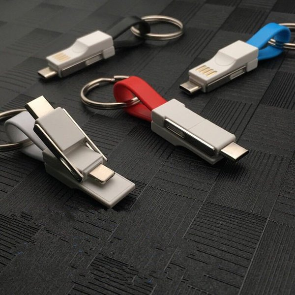 Magnetic USB Cable 3 In 1 Keychain Type C Micro V8 Light Charging Cable For Samsung S8 S9 S10 Htc Lg
