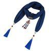 New multi color fashionable fringe design scarf jewelry necklace pendant women's headscarf free shipping