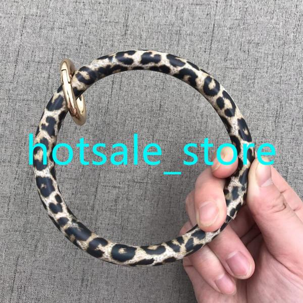 Serape girasol pulsera de cuero llavero personalizado moda al por mayor de cuero O llavero personalizado círculo pulsera pulsera llavero CA / EE.