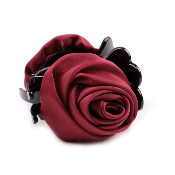HOT 7colors Fashion Korean Brand Hair Clip Rose For Women Girls Hair Crab Clamp Hairpin Headwear
