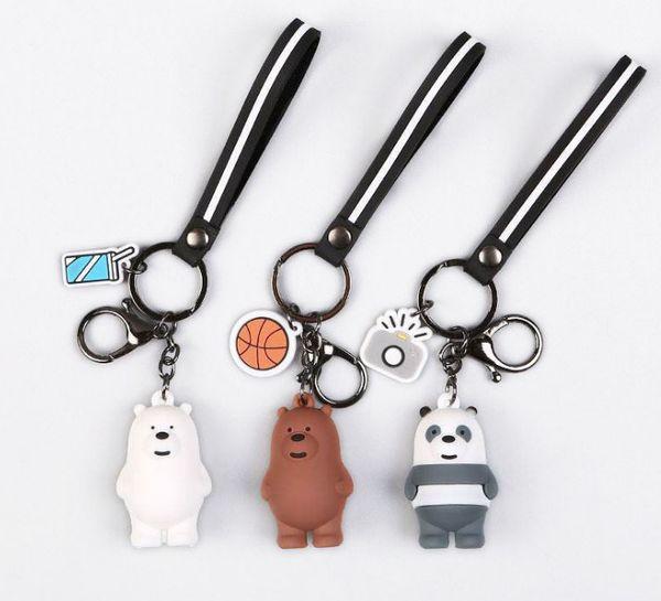 Catena Cute Cartoon Panda portachiavi di Keychain Bag Animals silicone pendente del panda Portachiavi borsa