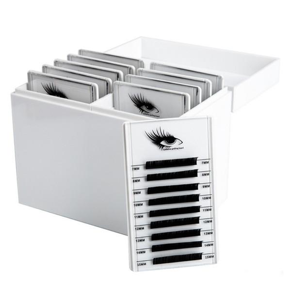 Eyelash Storage Box Makeup Display Container Eyelashes Glue Pallet Holder for Eyelash Extension Individual Grafting Eyelash