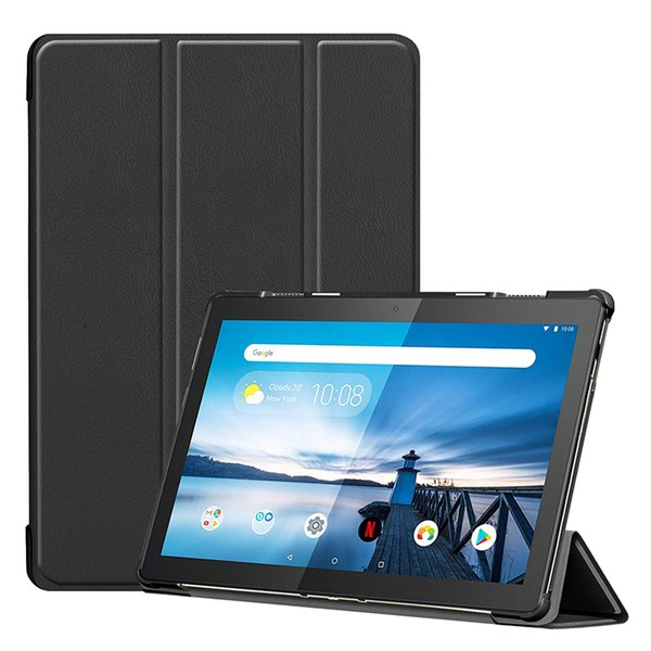Folio Folding PU Leather Case for Lenovo Tab M10 TB-X605F 10.1 Inch Tablet Flip Cover