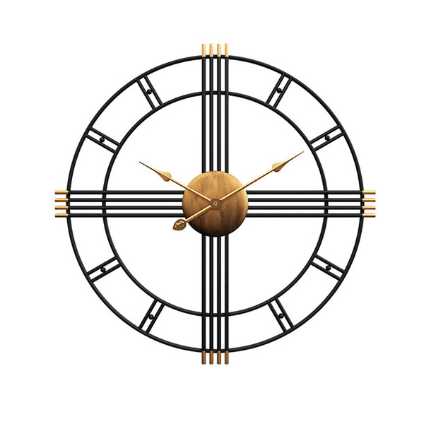 50 cm Retro Ferro Art Antiquing Mudo Silencioso Relógios de Parede Home Office Decor Relógio Silencioso de Quartzo Pendurado Relógio de Parede Relógio de Design Moderno