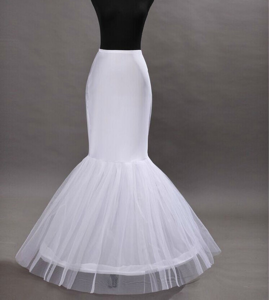 Yeni Ucuz Sıcak 1 hoop Net Petticoat Gelinlik Mermaid Kabarık Etek Balo Abiye Petticoats Gelin Düğün Aksesuarları