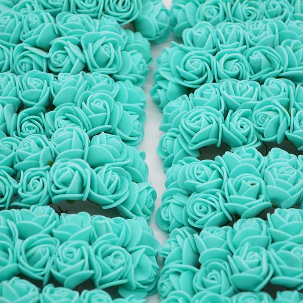 2 см Мини розовые цветы искусственные Pe пены цветок для дома свадебный автомобиль украшения Diy помпон Венок Декоративные свадебный цветок
