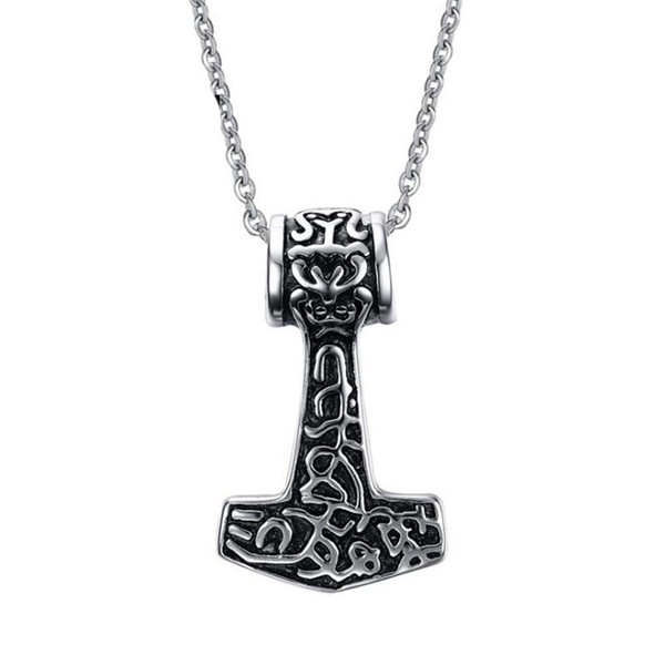Stainless steel axe pendant for men and women high polished punk axe totem pattern pendant new hot jewelry friendship gift