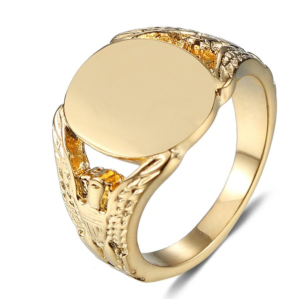 jingyang 2019 New Stainless Steel Skull Golden Ring High Quality Female For Girls Male Biker Jewelry Accessories Gifts For Men