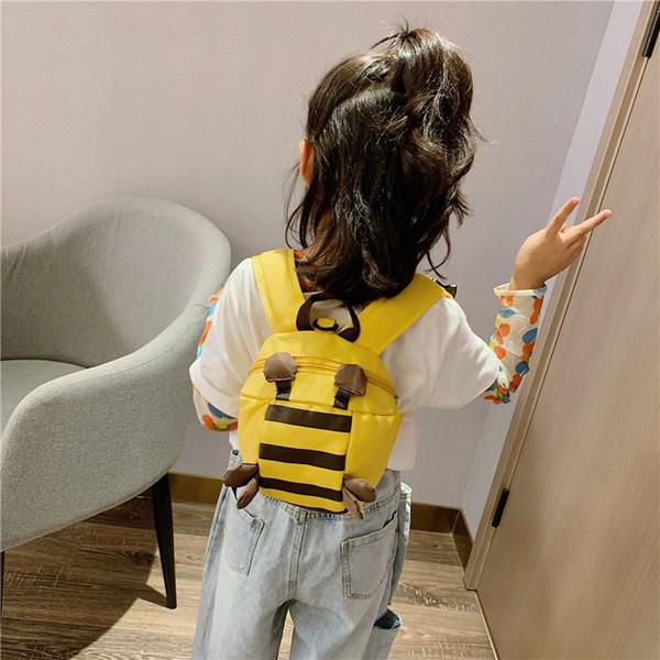 Borsa per bambini a strisce di coccinella Borsa per la corona di moda Zaino con cerniera semplice Borsa da viaggio per studenti Zaino da viaggio per bambini