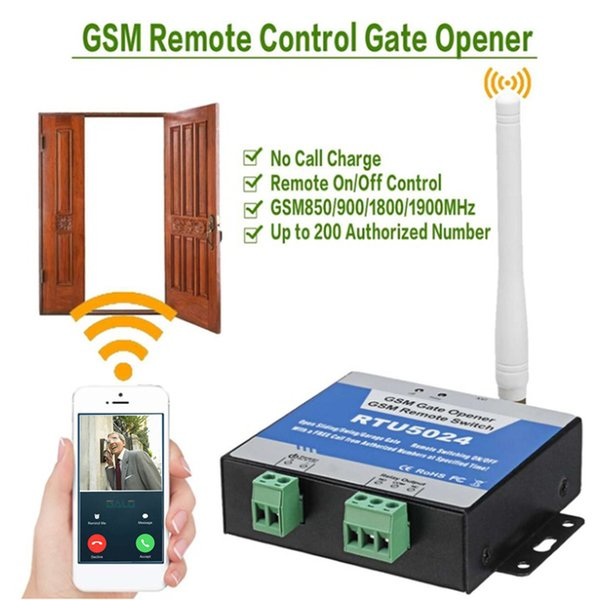 GSM Gate Opener Relay Switch Funk-Türöffner Fernbedienung Tür Access Kit RTU5024