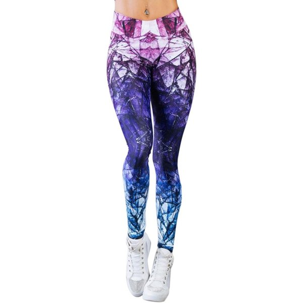 Printed Yoga Pants High Waist Women Push Up Sport Leggings Professional Running Leggins Sport Fitness Tights Trousers #103828