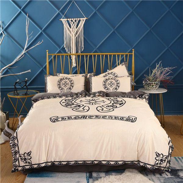 Vintage Pattern Bedding Sets Moda Casa de Luxo cama 4pcs Inverno padrão geométrico fronha Bed Covers Tamanho 200 * 230cm