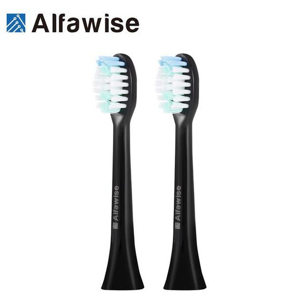2Pcs Alfawise S100 Mini Sonic Electric Toothbrush Replacement Heads for Adults Tooth Brush Deep Clean Electric Toothbrush Head AB
