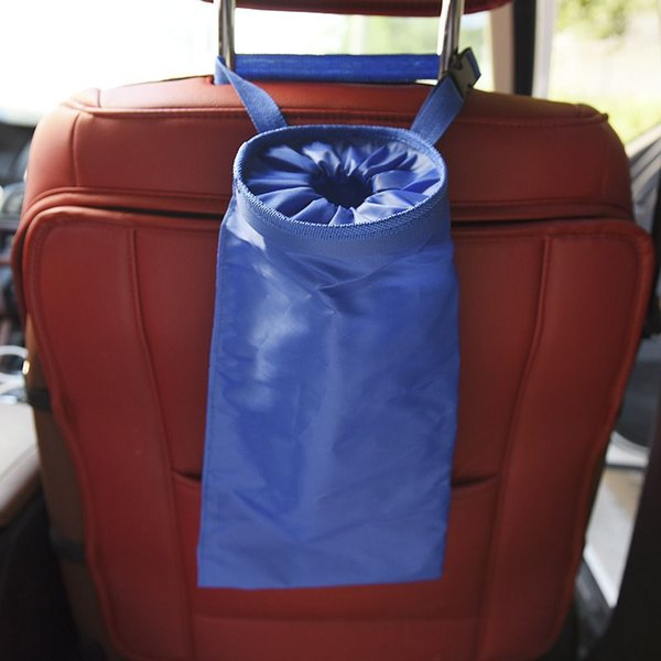 New Portable Car Dustbin Garbage Bag Dust Seat Back Storage Rubbish Bin Box Case Sundries Holder Organizer Pocket Bags Trash Can