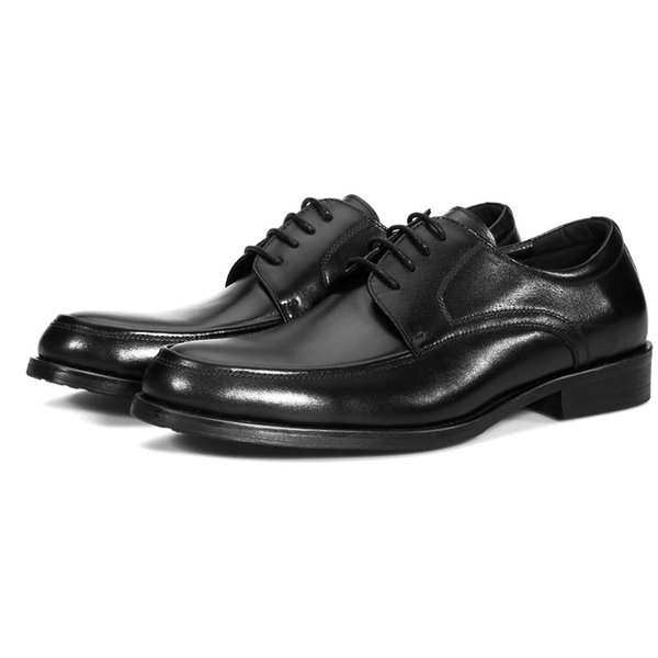 Large Size EUR48 Black Wedding Shoes Mens Dress Shoes Genuine Leather Business Shoes
