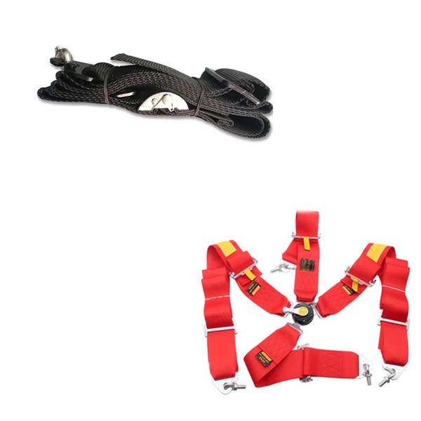 Hot sale New 1 pcs 3'' 6-Point Cam Lock Racing Car Seat Belt Race Safety Harness Univers FIA 2022 Black SB01