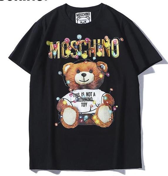 2019 sommer neue moschin o tee baumwolle kurzarm atmungsaktiv männer frauen moschinos schaukel bär casual outdoor streetwear t-shirts