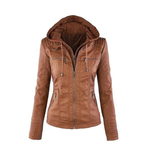 Весна Осень Женщины леди Тонкий куртки Мода Основные Zipper куртка с длинным рукавом пальто вскользь с капюшоном Тонкий Slim Fit Верхняя одежда